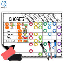4.8-1A1 Dry Erase Board Chore Chart Magnetic Toddler Reward Chart for Fridge
