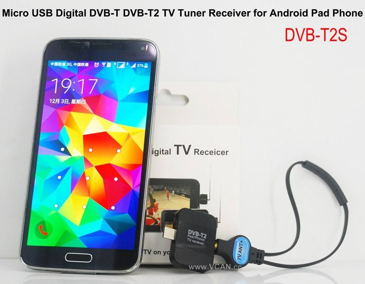 Portabel Auto Ponsel Android 2 MHz DVB-T2S mini kotak tv dvb-t kenya dvb-t2 usb tv dongle