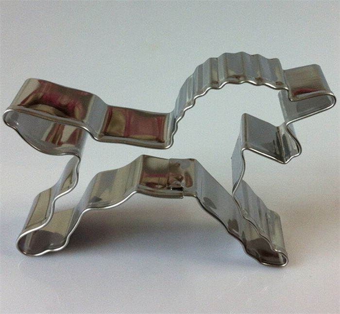 Wholesale stainless steel baking tools cookies mold unicorn horse shaped cookie cutter