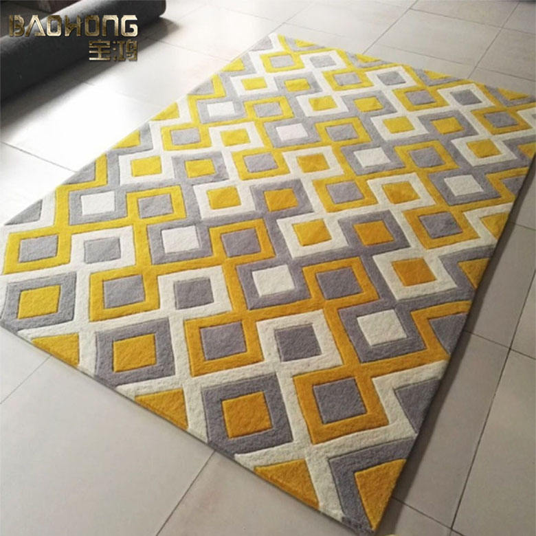 Hand knottted wool carpet rugs for commercial home decoration