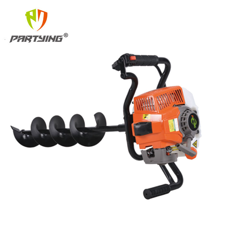 62cc 2.8kw 1E48F Engine Type Gasoline Power 62CC Hand Earth Drill Earth Auger without drills