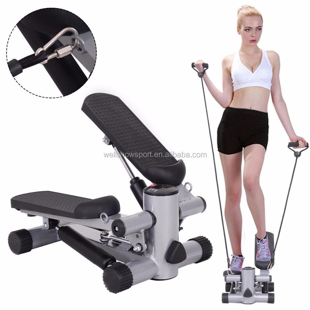Wellshow Sport Fitness Mini Stepper Twister Exercise Walking Machine with Cardio Climber Stepper