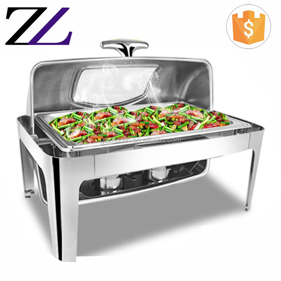 Keep food hot catering buffet server gel fuel& electrical heating element full size silver plated royal food warmer for catering
