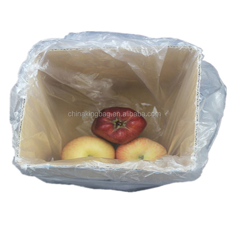 Large litter bin liner contractor big heavy duty clear carton box liner pe plastic bags