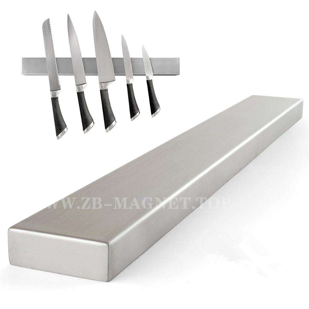 Factory Wholesale Stainless Steel Magnetic Knife Holder with engraving logo
