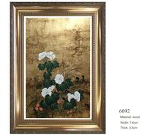 Shenzhen Customized Classical Wood Oil Painting Frame for Home Decoration Art Wall Frame