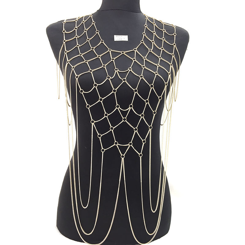Body Chains Dress Jewelry Body Chain in Bulk Necklace Non- allergenc Body Jewelry Chain YMBD1-207