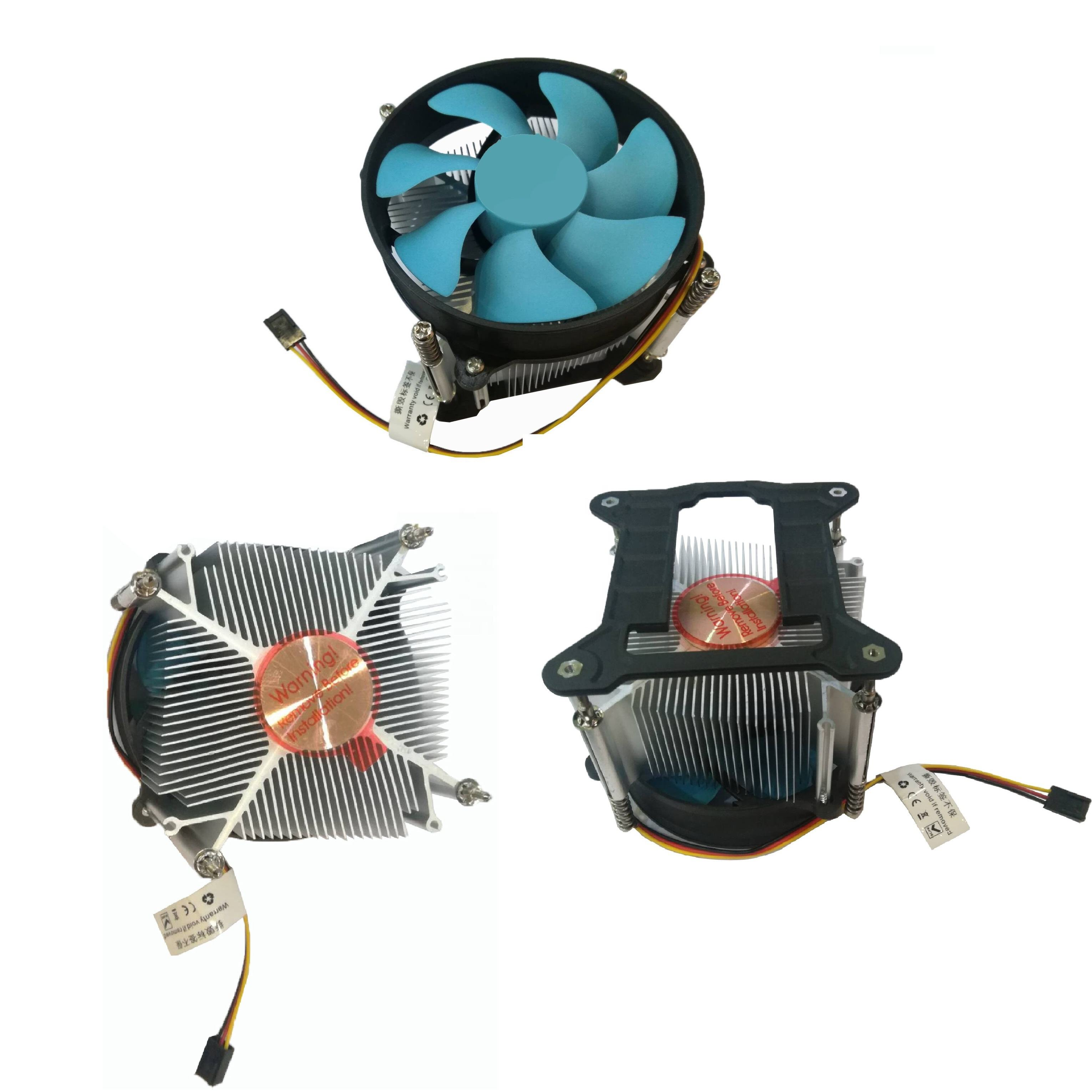 High quality horizontal Cpu cooler for 1150,1151,1155,1156,1157 115X heat sink w/ 3-4 Pins with/without speed adjustment