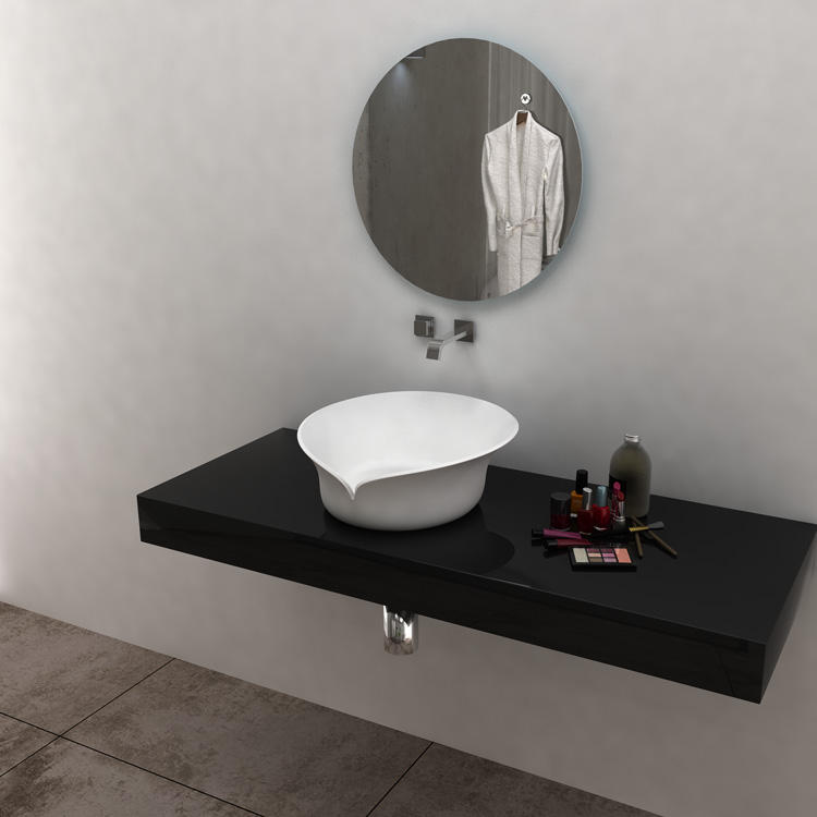 SM-8341 Australia cheap counter handmade bathroom wash basin