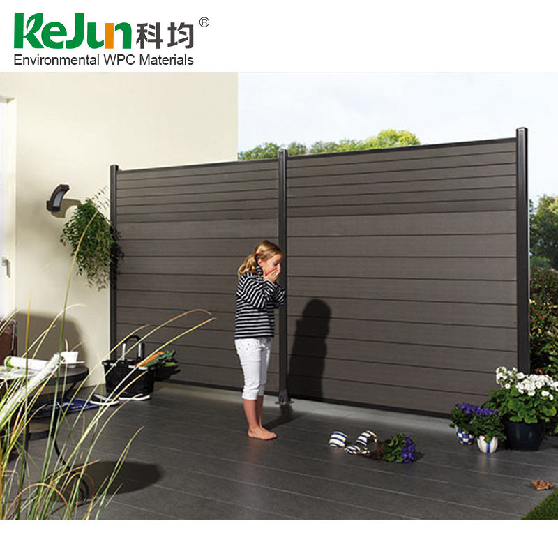Wholesale cheap easily installed anti-uv eco-friendly wood plastic composite fence panels