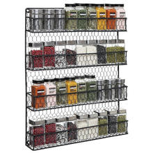 4 tiers metal chrome Seasoning bottles organizer spice rack