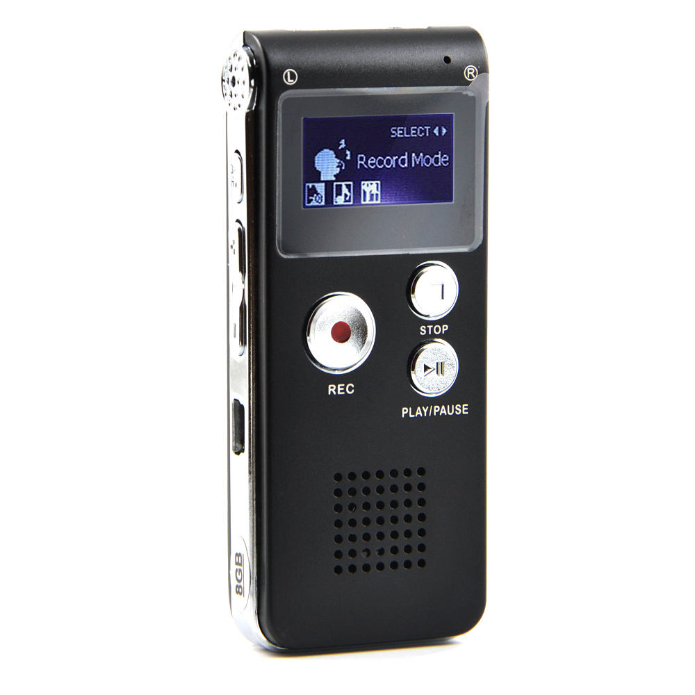 BUENKAI Mini Digital Voice Recorder Mp3 Palyer Dictaphone Audio Device Telephone Recording with One Key 8GB