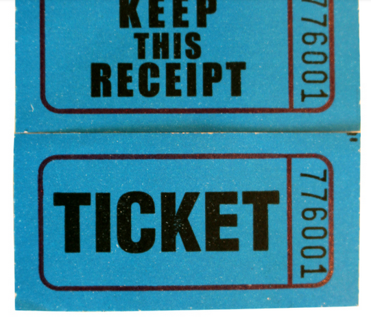 Verlosung ticket/coupon ticket rollenpapier, paprty ticket druck