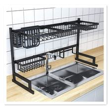 amazon hot selling kitchen Silver Over Sink Stainless Steel Dish drying Rack