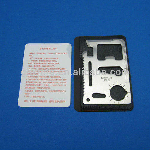 Promotion Multi tool card with leather cover