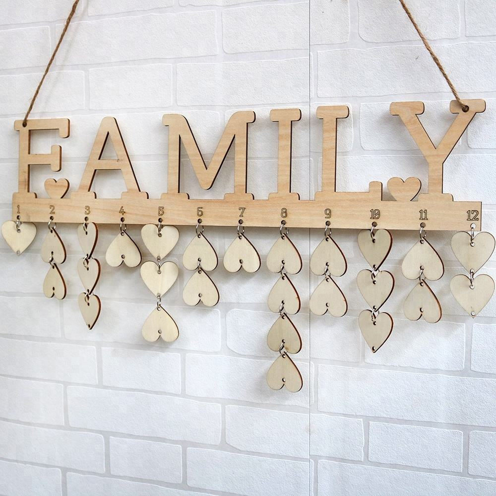 Laser Cut Birthday Reminder Wood for Gift