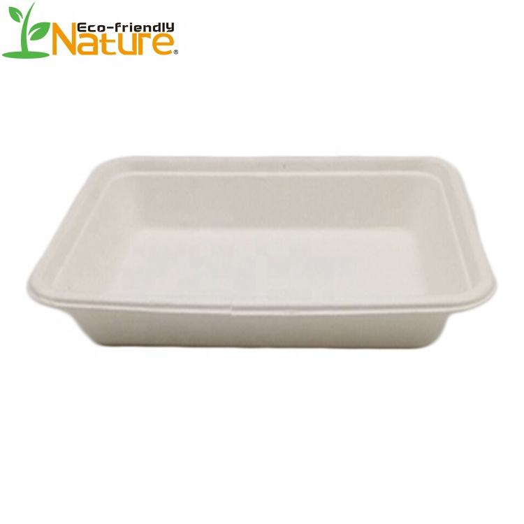 Biodegradable Sugarcane Fruit Sushi Tray for Restaurant Catering