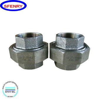 Forged Pipe Fitting Sfenry MSS SP83 Forged 2 Inch 4 Inch Carbon Steel A105 NPT Threaded Pipe Union