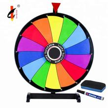 24 inch Dry Erase Roulette Prize Spin Wheel Of Fortune For Carnival Games