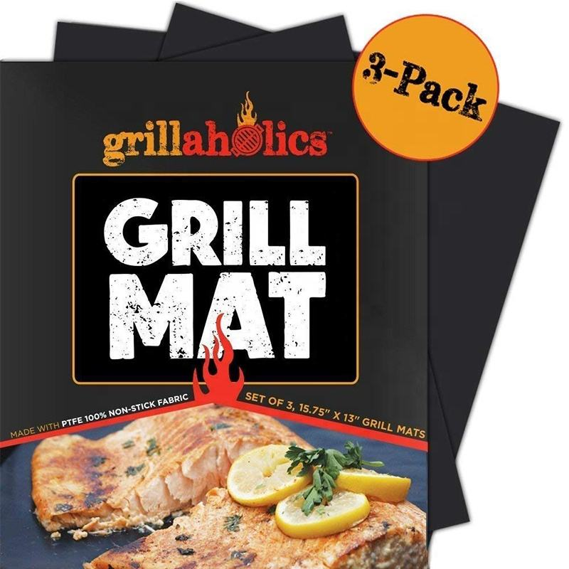As seen on TV Heat Resistant Non-Stick Fire Retardant PTFE BBQ Grill Mat