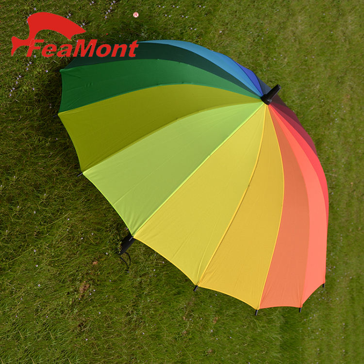 24 color rainbow automatic golf umbrella for outdoor beach promotion