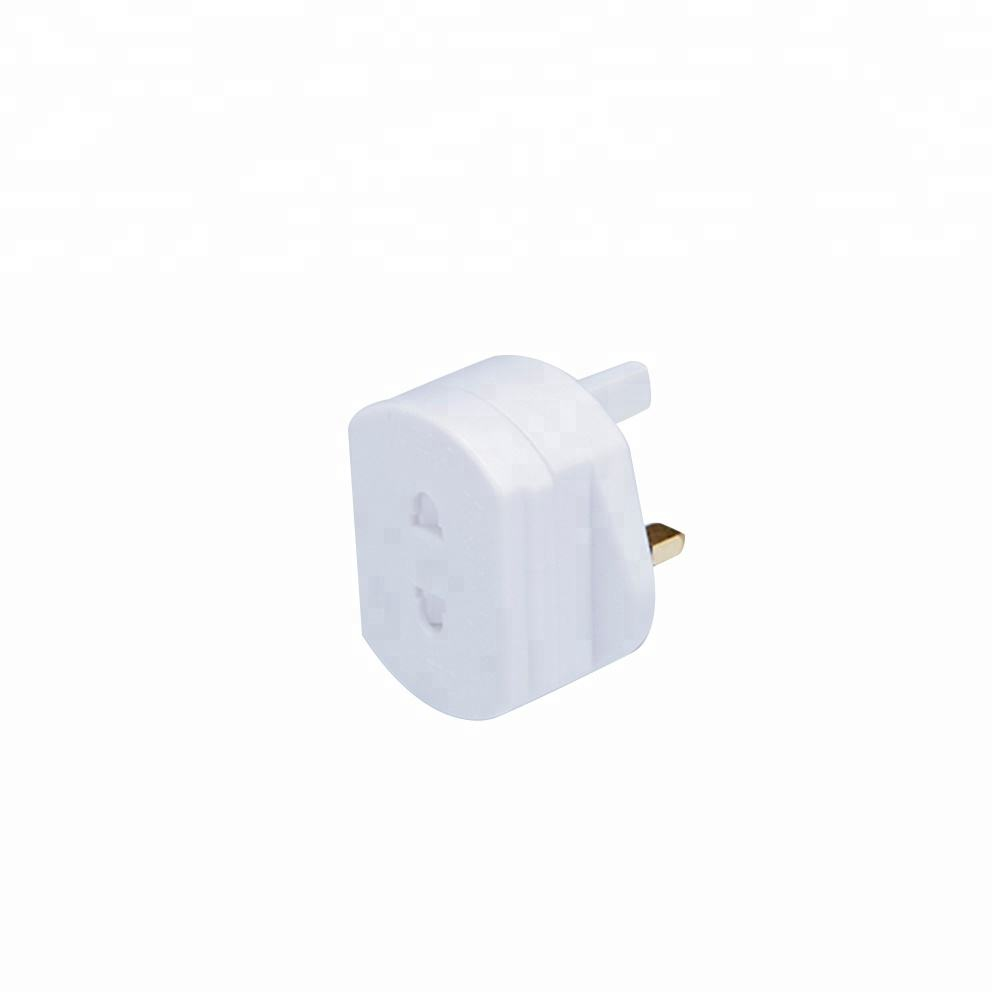 Shaver Adapter Plug US EU 2 Pin to 3 Pin UK 1A Fused Electric Toothbrush Travel Adaptor Socket