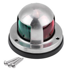 Stainless Steel SS304 Red / Green Boat Yacht Ship Marine Navigation Signal LED Lamp Light Lantern Part