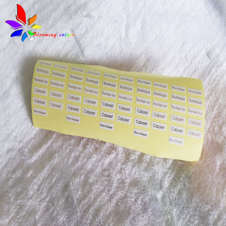Wholesale Custom brand name clear sticker label for eyelash box