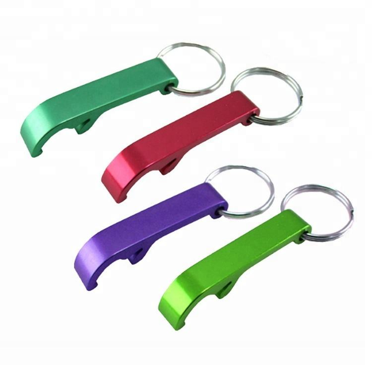 Eco-Friendly Colourful Portable Durable Metal Anodized Mini Beer Bottle Opener Keyring