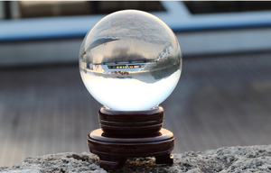 100mm large clear glass sphere decoration crystal ball for gift