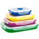 4 Different Size Lunch Container Bento Box Collapsible Silicone Lunch box