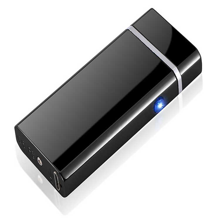 Hot selling USB Rechargeable Windproof Dual Arc Lighter with Led light