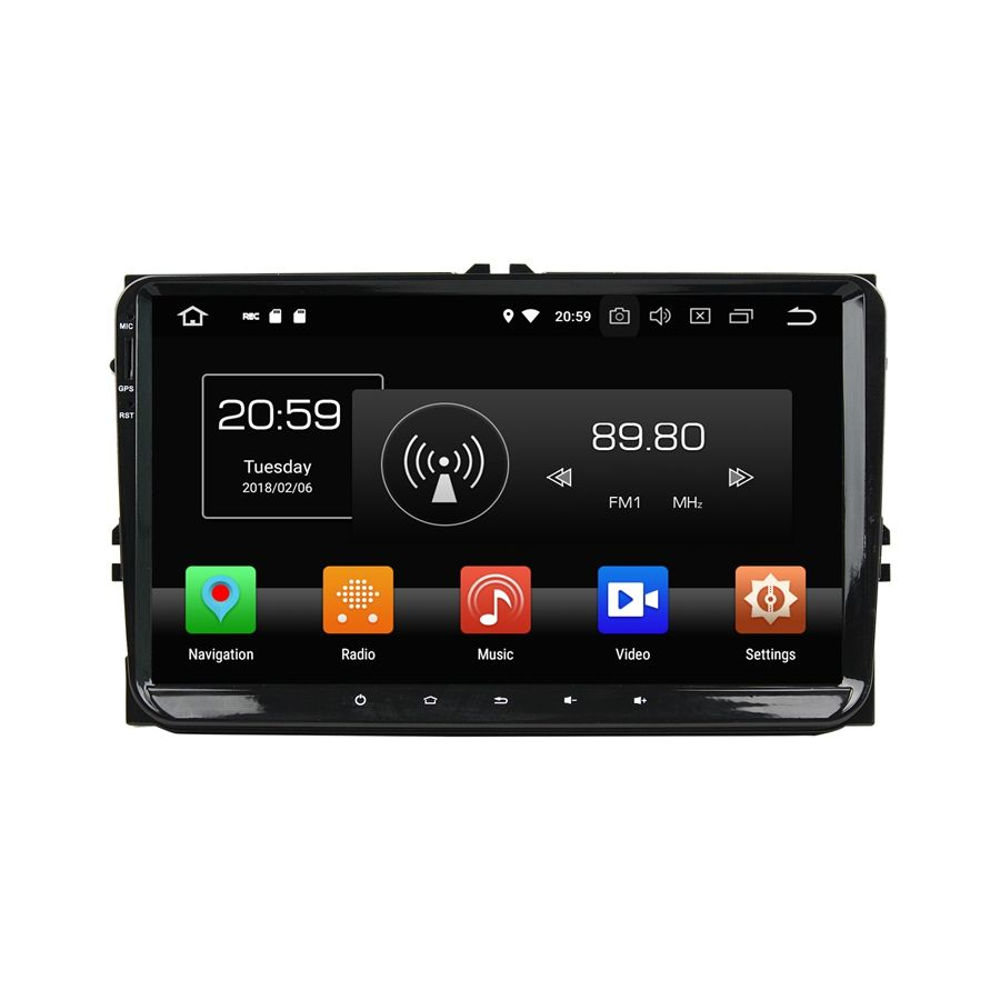 Android 8.0 Octa Inti PX5 NXP6686 Bluetooth 9 Inch 2 DIN Mobil Audio Video Sistem Hiburan Car DVD Player untuk VW Universal