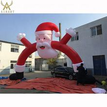 Outdoor Playground Inflatable Christmas Arch santa claus mascot
