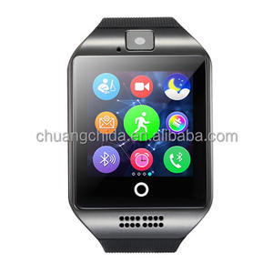 2019 Original 1000 workers Factory Q18 touch screen gps smart watch with carma also sell A1,dz08,gt08 ,Y1 Watch