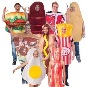 Adult Men Ladies Womens Funny Stag Party Carnival Fast Food Comedy Mascot Fancy Dress Costumes QAMC-3478