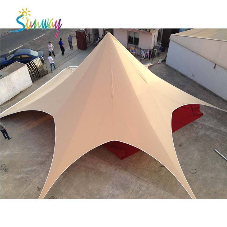 Hot sale star shaped tent,single/double pole star tent red bull star tent
