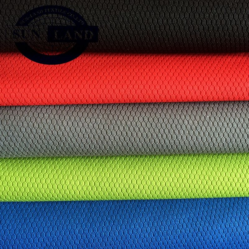 100 polyester dry fit football mesh fabric for sportswear jersey T-shirt