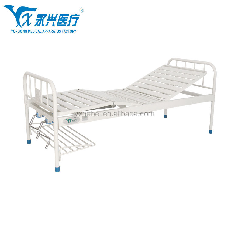 A16 Powder Coating Hospital Furniture Two Function Manual bed