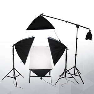 Photo Studio Continuous lighting Kit 60x130cm photographic Shooting Table and four 50x70cm softboxes