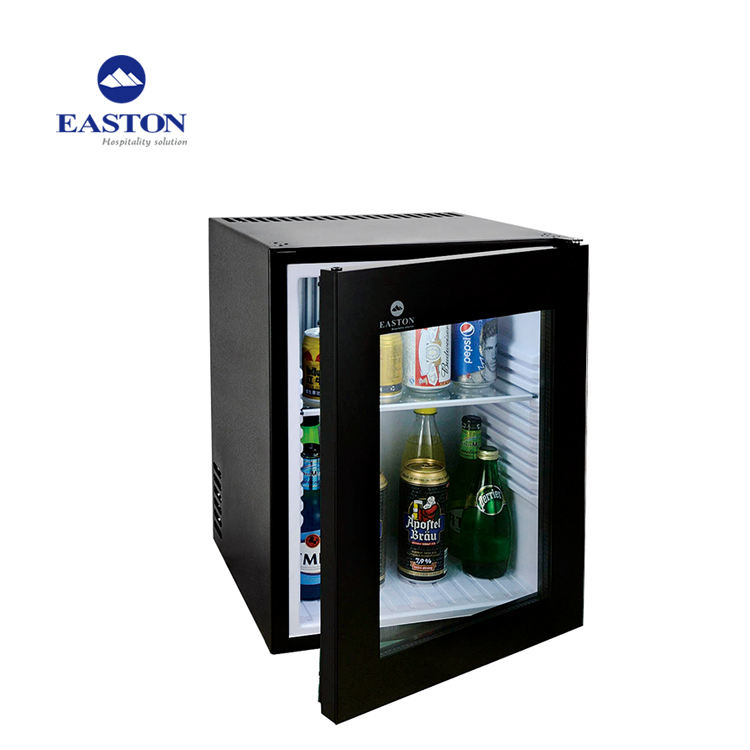 Hotel Glass Door Automatic Defrosting 40L Hotel Mini Fridge Bar Refrigerator