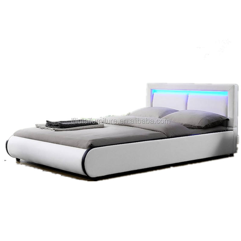 Camera Da <span class=keywords><strong>Letto</strong></span> moderna Mobili, Mobili Camera Da <span class=keywords><strong>Letto</strong></span> Set, In Pelle Bianca Letti King Size Led