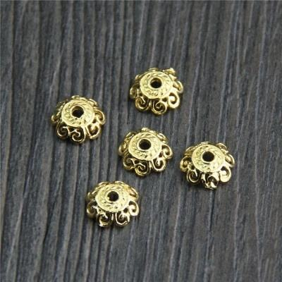 925 Sterling Silver Flower Bead Caps Flower Hollow Bead Cap Jewelry Accessories Handmade Jewelry Parts