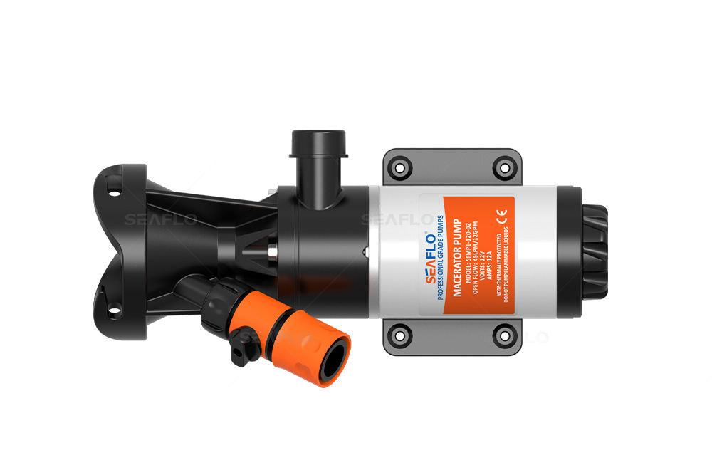 Seaflo 12 V Pompe d/échiqueteuse Pompe /à eau d/échets 45 l//min 12 GPM WC Marine RV Campeur Remorque Bateau