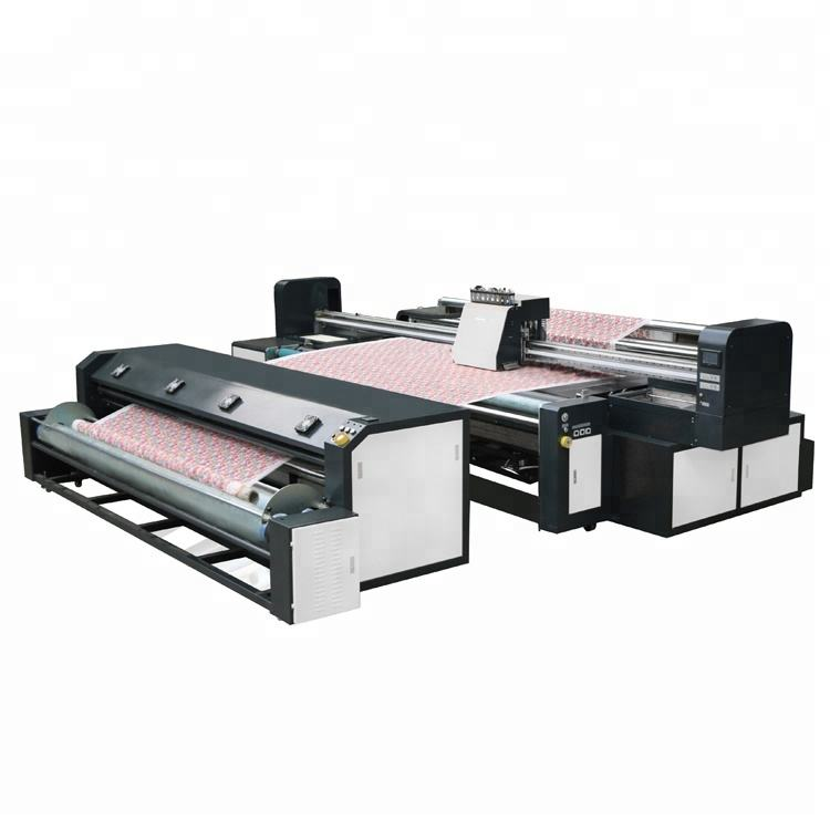 Digital inkjet textile printing machine for direct print on cotton poly linen wool etc fabric