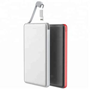 Best selling built-in cable power bank 5000mah for All cell phone