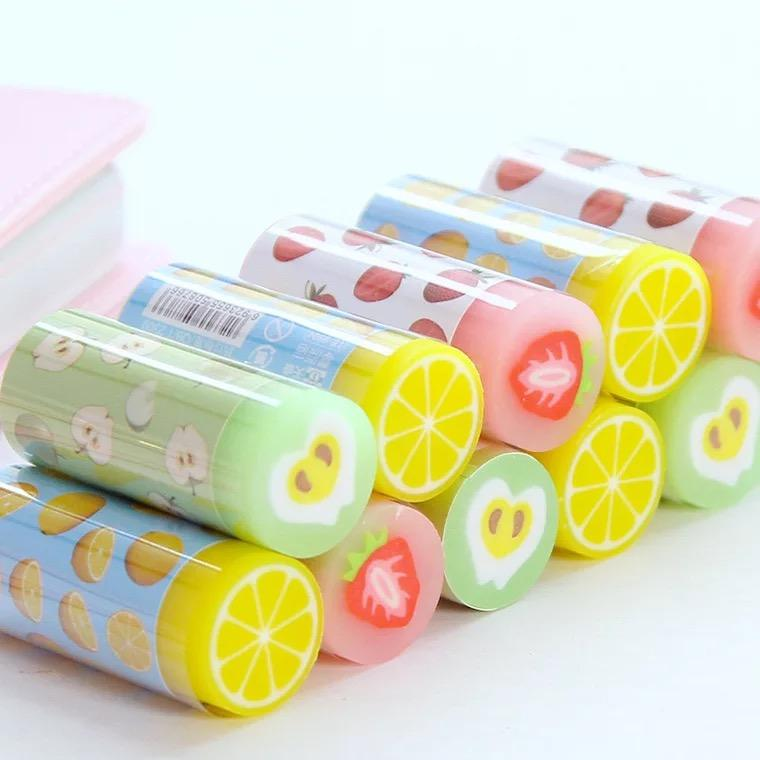 Kawaii Cute Fruit Rubbers Radiergummis für Kinder, Studenten