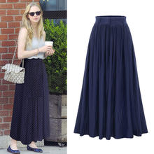 B20464A 2018 summer new Fashion women Slim long pleated skirt