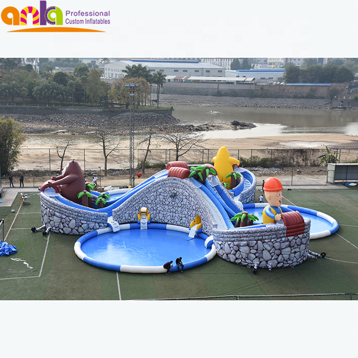 Cheap inflatable water slides/ commercial inflatable amusement park for kids