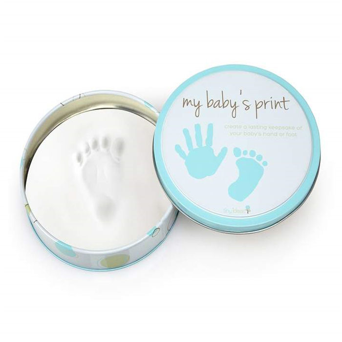 Newborn Baby Hand Print and Foot Print Clay Ink Paste Mud Infant Iron Box Souvenir Set